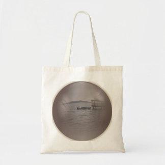 bolso de la opinión del lago bolsas lienzo