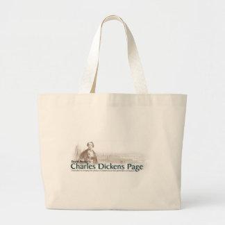Bolso de la página de Charles Dickens Bolsa Tela Grande