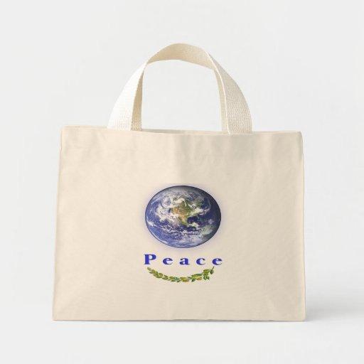 bolso de la paz bolsa tela pequeña