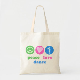 Bolso de la paz, del amor y de la danza bolsa tela barata