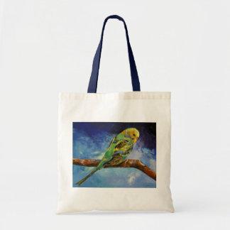 Bolso de la pintura del Parakeet Bolsa De Mano