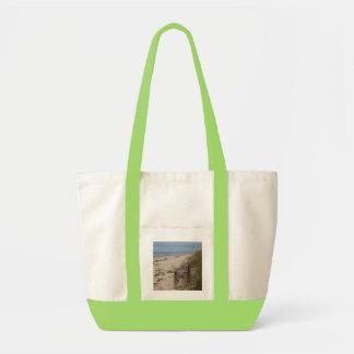 Bolso de la playa bolsa tela impulso