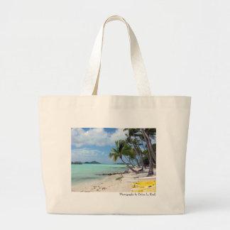 Bolso de la playa de Bora Bora Bolsa Tela Grande
