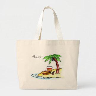 Bolso de la playa de Hawaii Bolsa Tela Grande