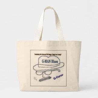 bolso de la playa de la aceleración de los gmanblu bolsa tela grande