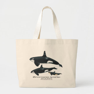 Bolso de la playa de la familia de la orca bolsas