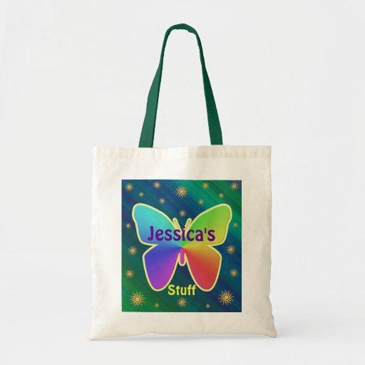 Bolso de la playa de la mariposa (añada su propio  bolsa