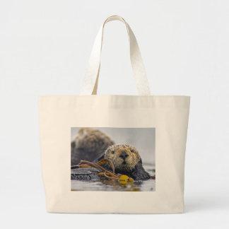 Bolso de la playa de la nutria de mar bolsas de mano