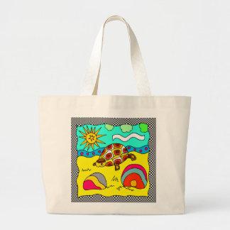 Bolso de la playa de la tortuga bolsa tela grande