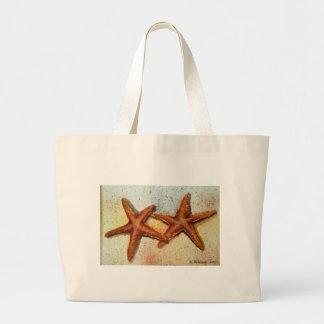 bolso de la playa de las estrellas de mar bolsas de mano