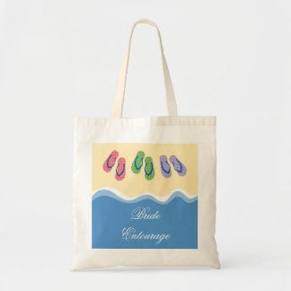 Bolso de la playa de los flips-flopes bolsa tela barata