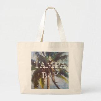 Bolso de la playa de Tampa Bay Bolsa De Tela Grande