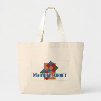 Bolso de la playa del adicto a Mahjong Bolsas De Mano