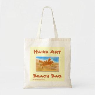 Bolso de la playa del arte del Haiku del cangrejo  Bolsa Tela Barata