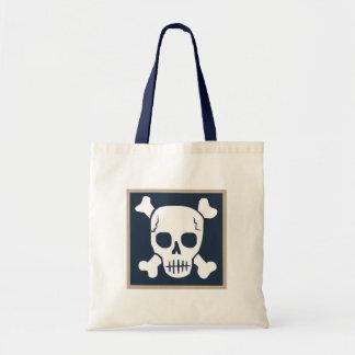 Bolso de la playa del cráneo bolsa tela barata