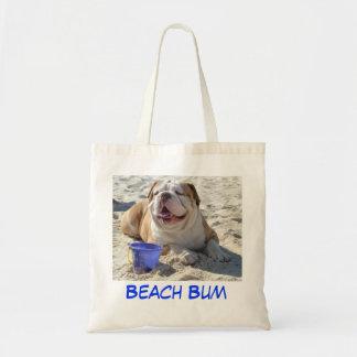 Bolso de la playa del dogo bolsa tela barata
