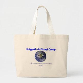 Bolso de la playa del grupo del viaje de Polygawor Bolsa De Tela Grande