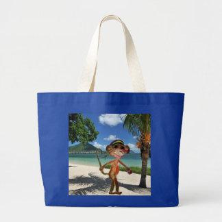 Bolso de la playa del mono bolsa