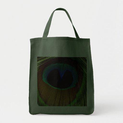 Bolso de la pluma del pavo real bolsa tela para la compra