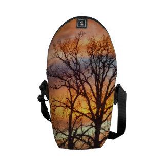Bolso de la puesta del sol 1 del invierno bolsas de mensajería