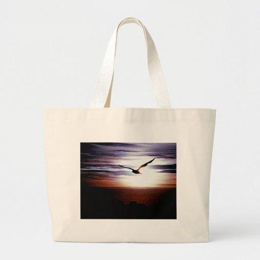 Bolso de la puesta del sol de la gaviota bolsa de mano