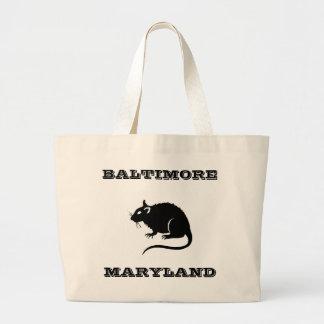 Bolso de la rata de Baltimore Maryland Bolsa Tela Grande