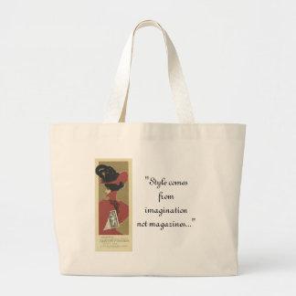 Bolso de la señora roja estilo bolsas