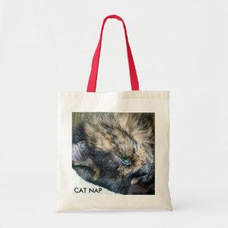 Bolso de la siesta del gato bolsas lienzo