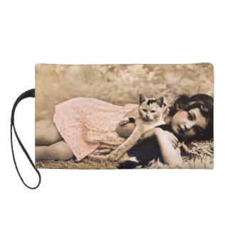 Bolso de la siesta del gato del vintage de Marys K
