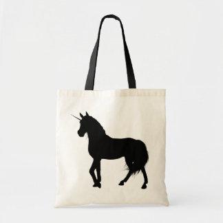 Bolso de la silueta del unicornio bolsa tela barata