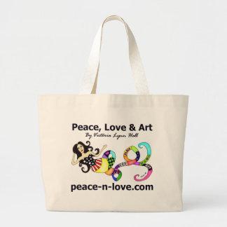 Bolso de la sirena de la paz del amor y del arte bolsas