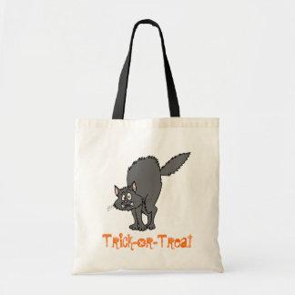 Bolso de la Truco-O-Invitación (gato negro) Bolsa