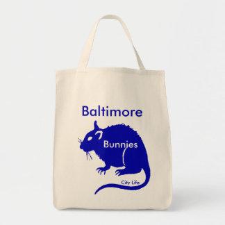 Bolso de la vida de ciudad de las ratas de los bolsa tela para la compra