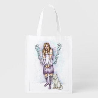 Bolso de la violeta del invierno bolsa para la compra