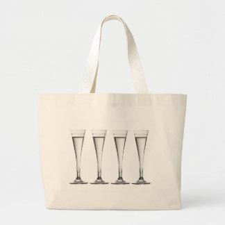 Bolso de las flautas de champán bolsa tela grande