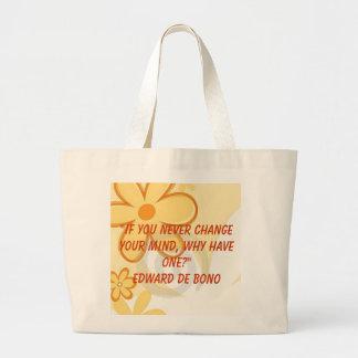 bolso de las flores bolsa tela grande