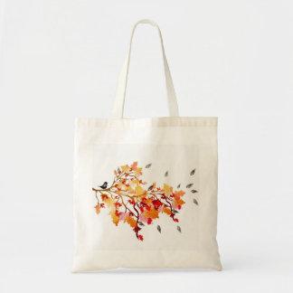 Bolso de las hojas de otoño bolsa tela barata