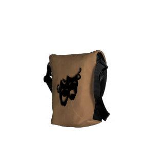 Bolso de las máscaras del teatro de la comedia y d bolsa de mensajeria