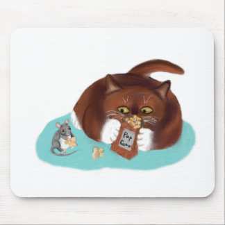 Bolso de las palomitas para el ratón y el gatito alfombrilla de ratón
