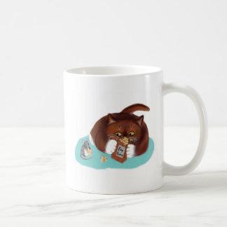 Bolso de las palomitas para el ratón y el gatito taza de café