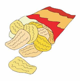 bolso de las patatas fritas fotoescultura vertical
