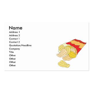 bolso de las patatas fritas tarjetas de visita