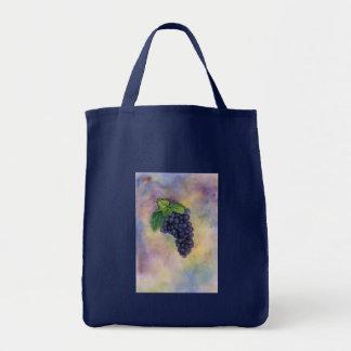 Bolso de las uvas de vino del pinot negro bolsa tela para la compra