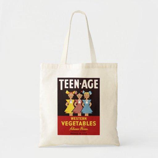 """Bolso de las """"verduras occidentales adolescentes"""" bolsa"""