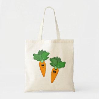 Bolso de las zanahorias del dibujo animado bolsa tela barata