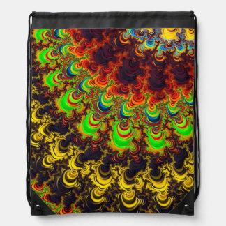 Bolso de lazo brillante del diseño del fractal mochilas