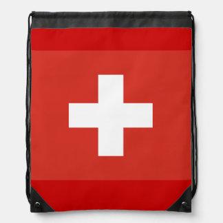 Bolso de lazo cruzado suizo de la bandera el | roj mochila