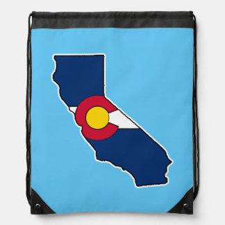 Bolso de lazo de la bandera de California Colorado Mochila