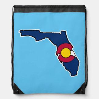 Bolso de lazo de la bandera de la Florida Colorado Mochilas