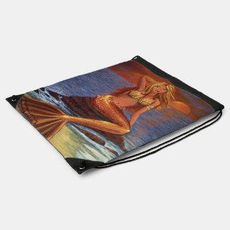 Bolso de lazo de la puesta del sol de la sirena mochila